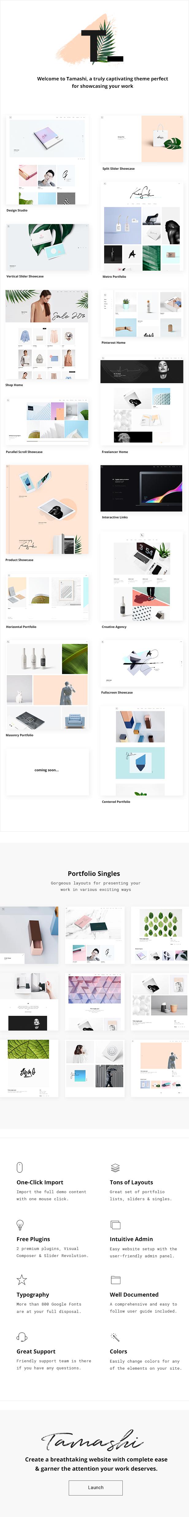 Tamashi - Contemporary Portfolio Theme - 1